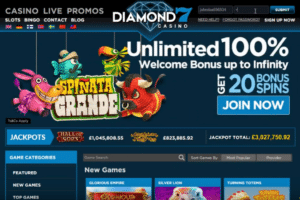 diamond7 casino online welcome bonus