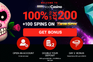 next casino welcome bonus and free spins