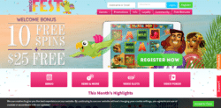 bingofest casino 25 free chip plus 10 free spins no deposit